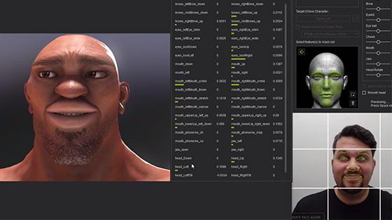 Facial motion capture pics 296